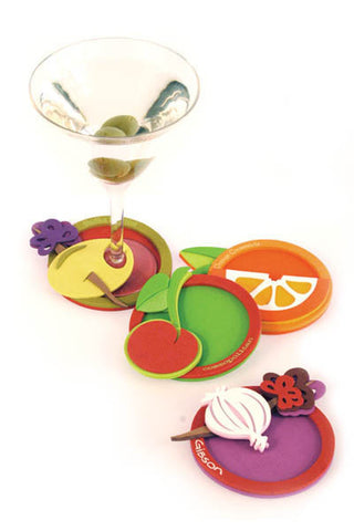 After Five, Attachable Coasters, Packaged set of 4
