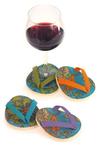 Aqua Vera, ATTACHABLE COASTER SET of 4