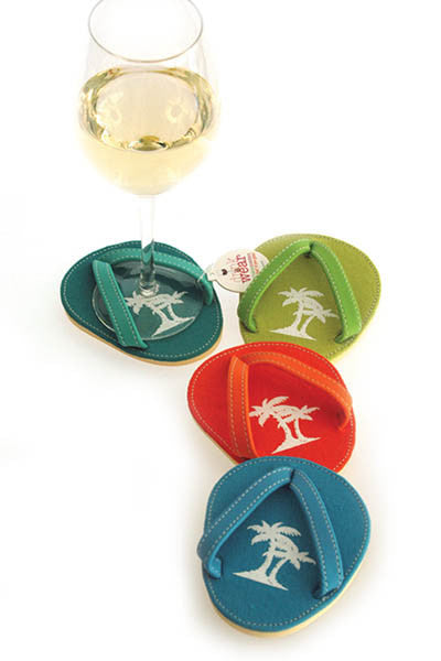 Beaches, ATTACHABLE COASTERS, Set of 4