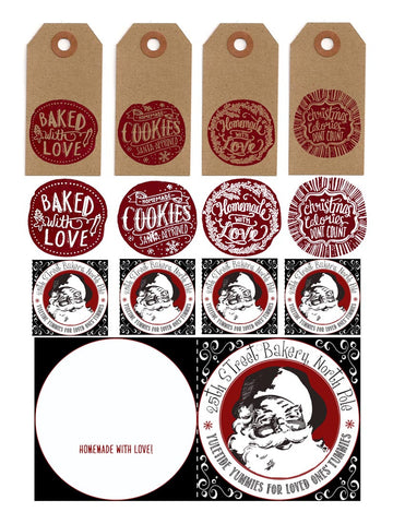FREE GIFT - Set of - FREE printable CHRISTMAS TREAT TAGS