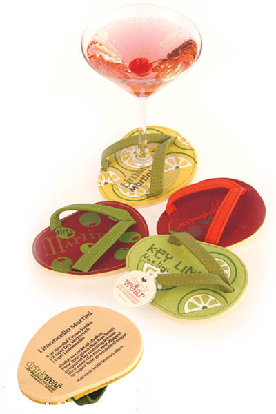 Cocktail Party, ATTACHABLE COASTERS, Set of 4