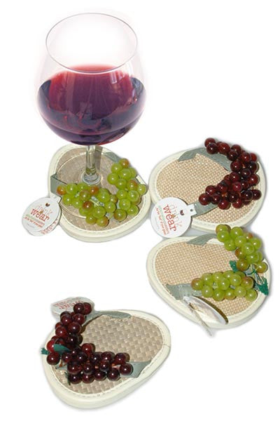 CRUSH, flip flop coasters