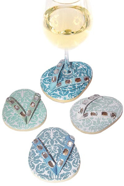 Divine Damask, ATTACHABLE COASTERS, Set of 4