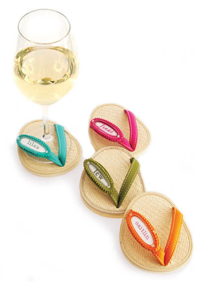 Rattan Frames, ATTACHABLE COASTERS, Set of 4