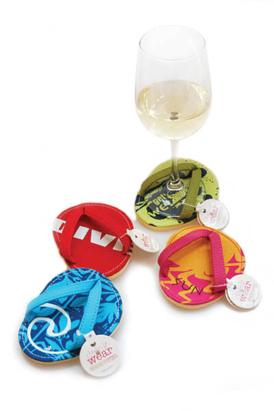 Fun in the Sun, ATTACHABLE COASTERS, Set of 4