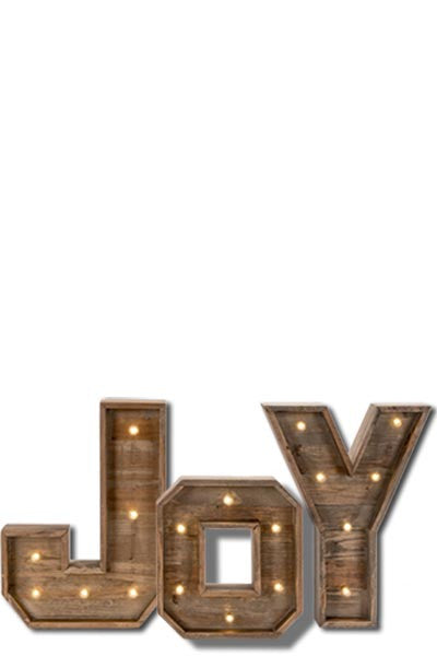 LIGHTED JOY,  Wood Marquee light