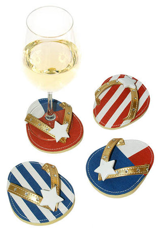 Patriot, ATTACHABLE COASTERS, Set of 4