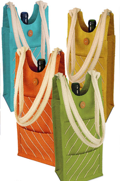 Natural Jute Totes with Rope Handle