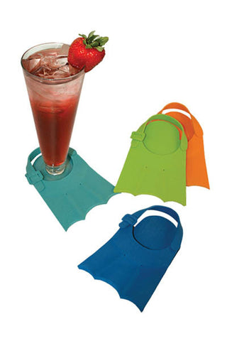 Flipper Coasters, ATTACHABLE COASTERS, in packaged set of 4