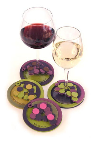 Wine Styles Attachable Coasters/ set of 4