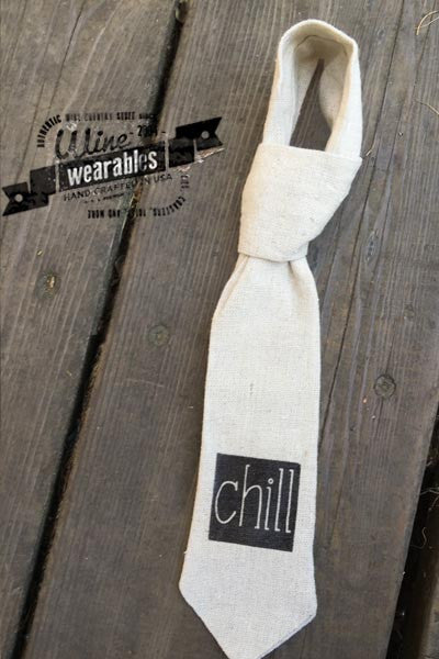 Wine Wearable Neck Tie - Chill