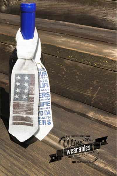 Wine Wearables NECK TIE - Flag