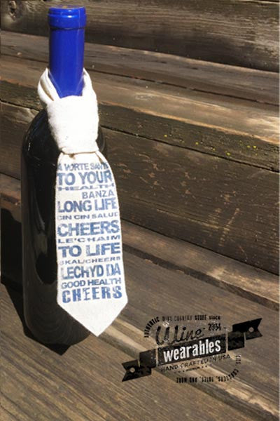 Wine Wearables NECKTIE -  Cheers!