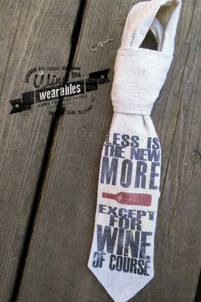 Wine Wearables - Neck Tie - Less is More