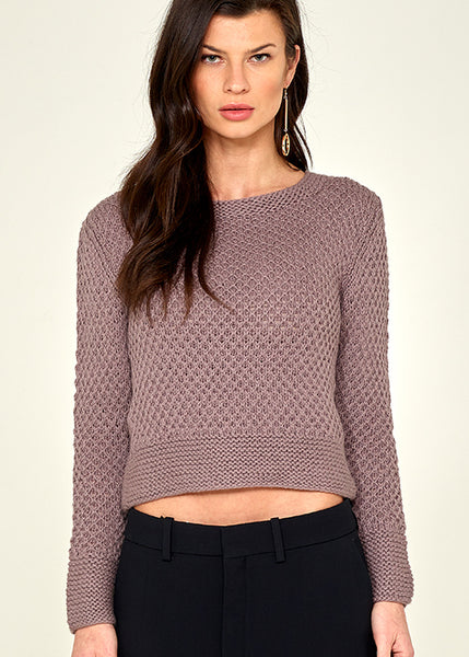 Isa Cropped Pullover Orchid