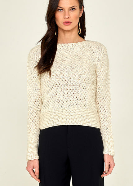 Isa Crop Pullover Winter White