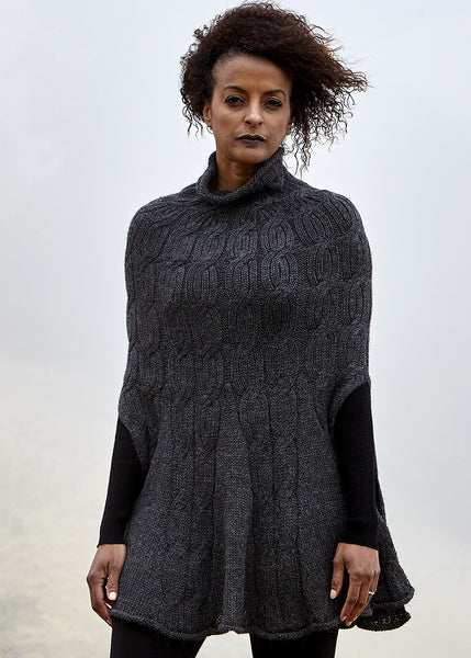 Mia Cape in charcoal