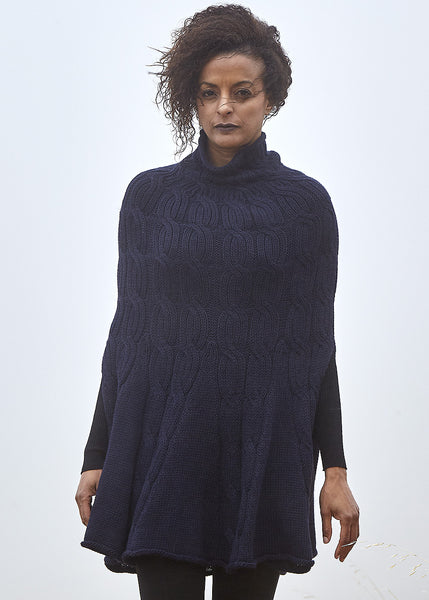 Mia Cape in navy
