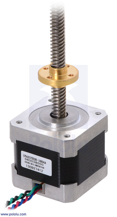 Stepper Motor with 18cm Lead Screw: 200 Steps-Rev, 42×38mm