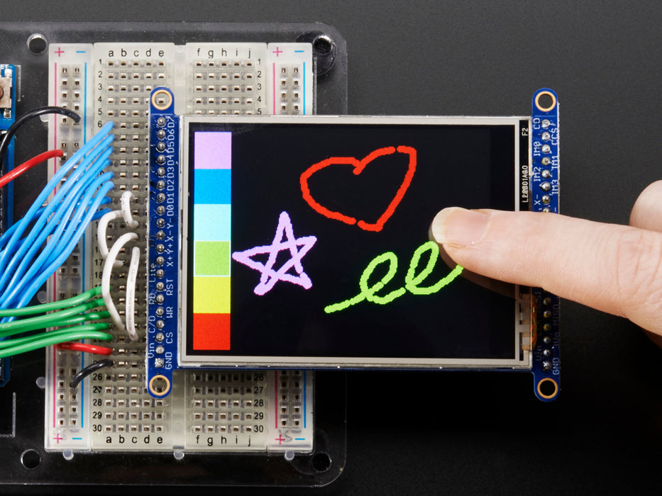 "2.8"" TFT LCD with Touchscreen Breakout Board w-MicroSD Socket"