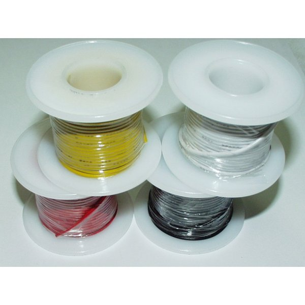 Solid Core Hookup Wire - YELLOW