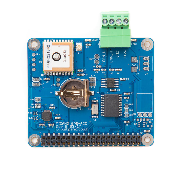 PiCAN with GPS + Gyro +Accelerometer CAN-Bus for Raspberry Pi 3