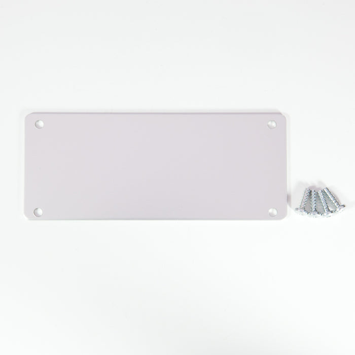 End Plate Silver Anodized 108.5 x 45mm