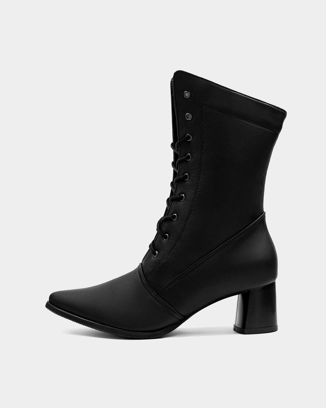 High Boots Black cactus leather boots