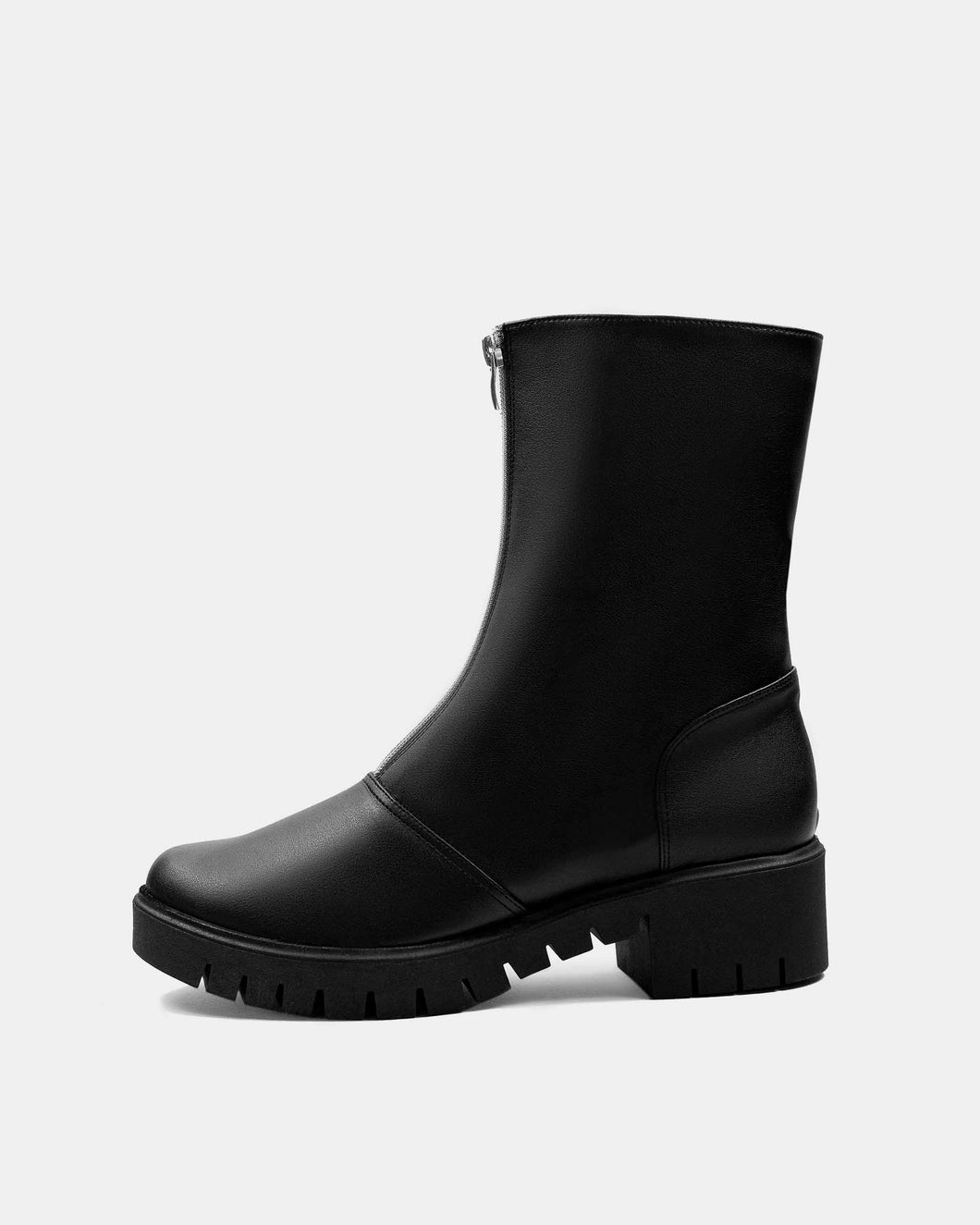 Cyber Boots Black cactus leather ankle boots