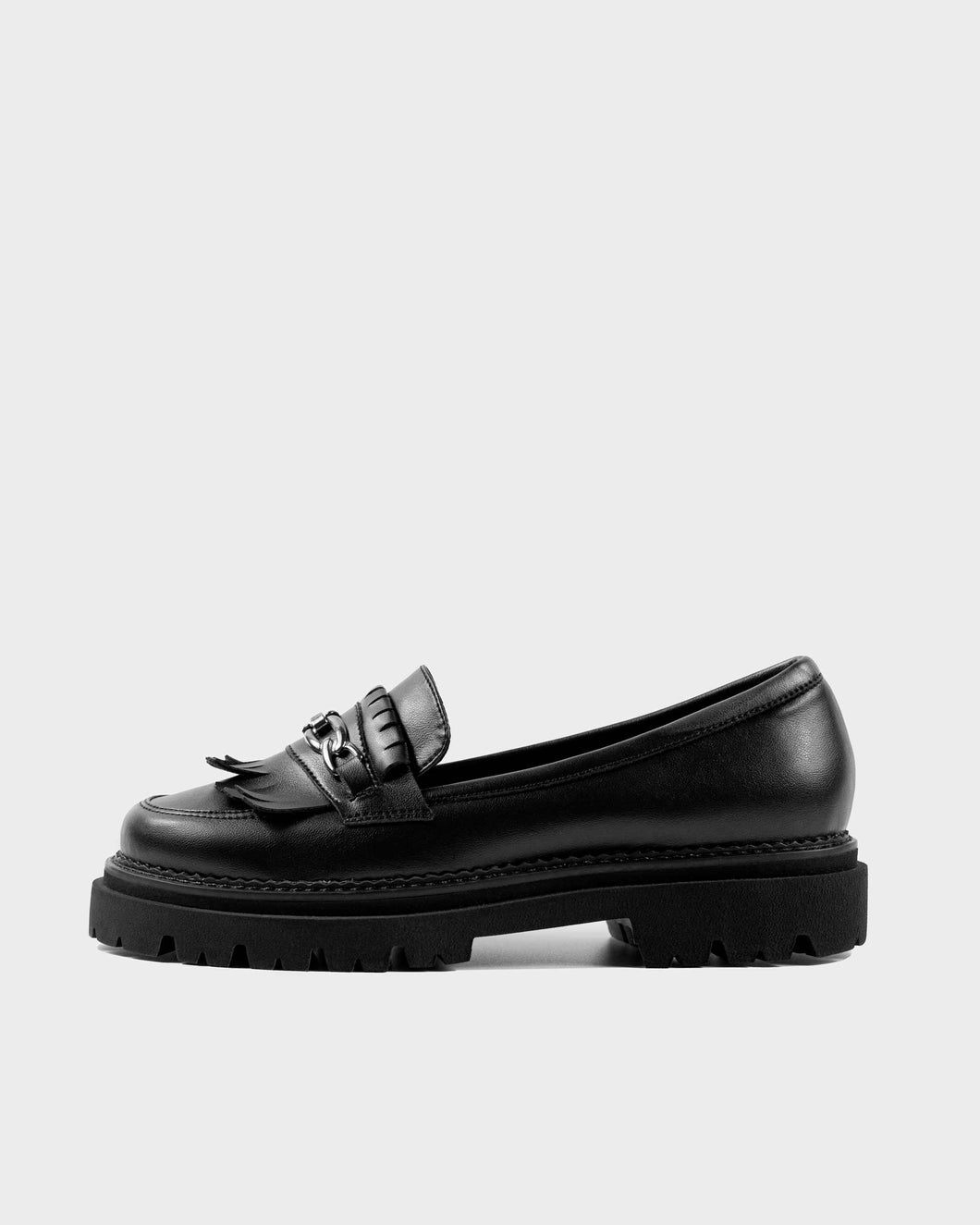 Chunky Loafers Black Grape Leather Loafers