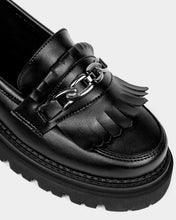 Load image into Gallery viewer, Chunky Loafers Black Grape Leather Loafers