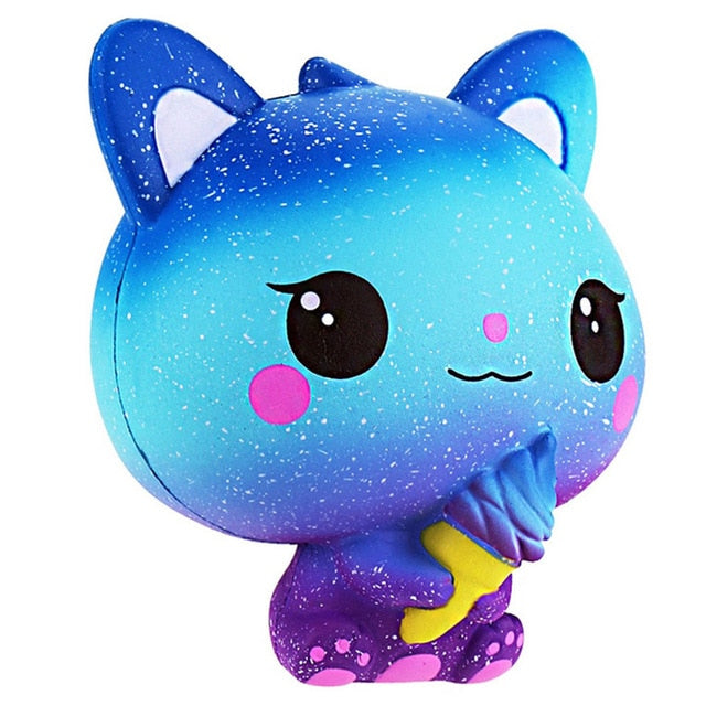 Galaxy Kitty with Ice Cream