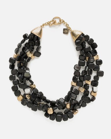DHAHABU NECKLACE DARK HORN