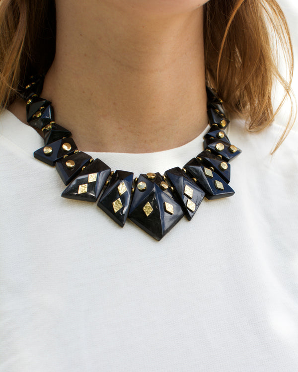 Mila Necklace Dark Horn