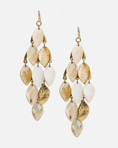 Light Horn Leaf Earring