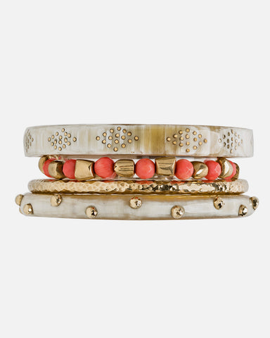 HERUFI BANGLE SET LIGHT HORN