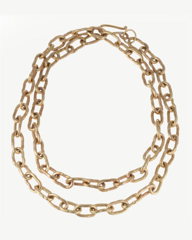 Hammered Bronze Chain