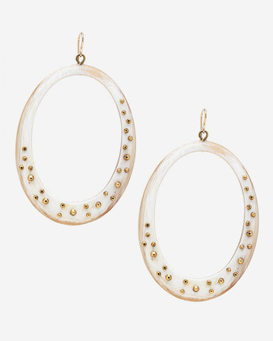 Mzima Earring in Light Horn
