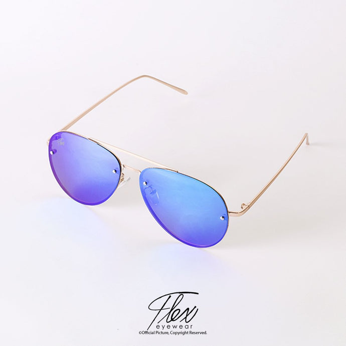 Flex Eyewear Aviator Flat Green Gold - Flex2Store.com
