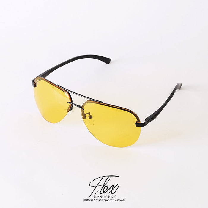 Flex Eyewear Aviator Yellow Drive - Flex2Store.com