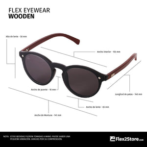 Flex Eyewear Wooden Blue - Flex2Store.com