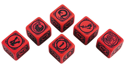 BattleTech: House Kurita D6 Dice Set (6)