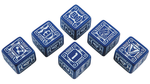BattleTech: House Steiner D6 Dice Set (6)