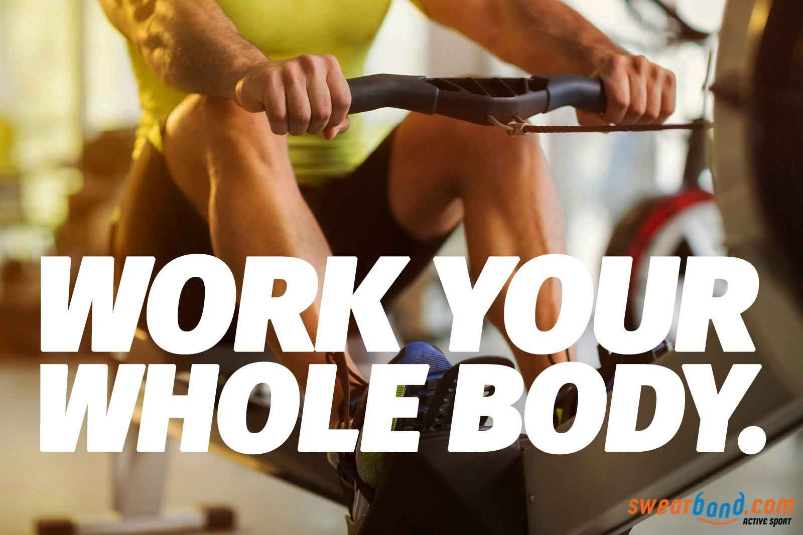 Rowing works your whole body