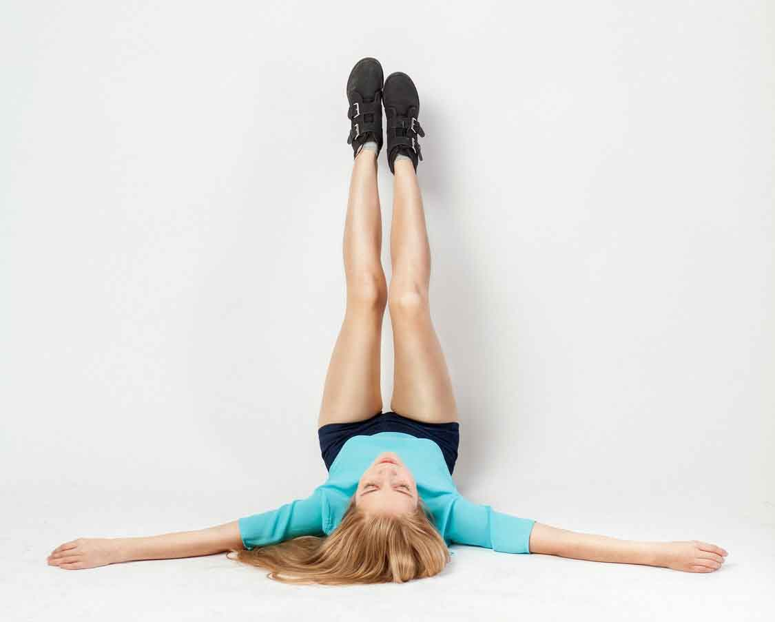 Yoga: legs up against the wall pose