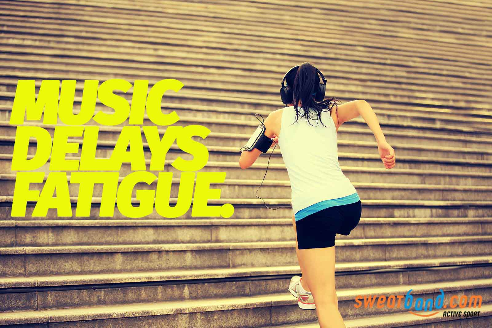 Listening to music as you work out can help delay the onset of fatigue