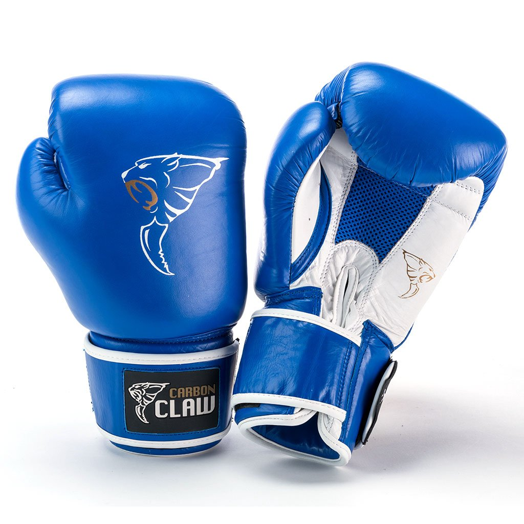 Image of Carbon Claw AMT CX-7 Blue Leather Sparring Gloves