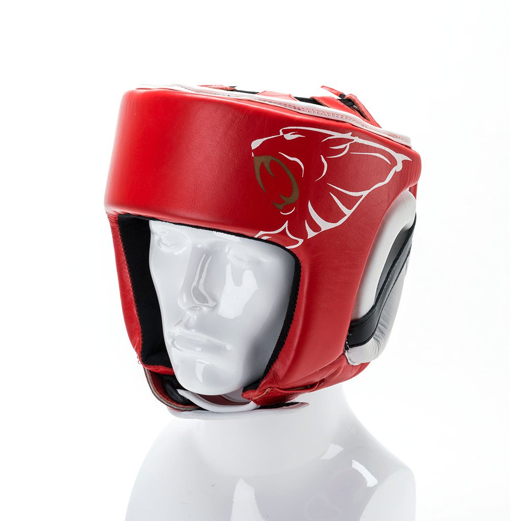 Image of Carbon Claw AMT CX-7 Red Leather Headguard
