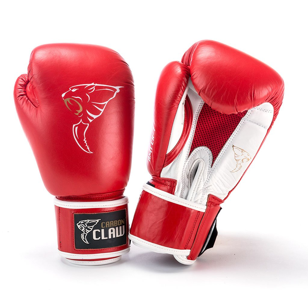 Image of Carbon Claw AMT CX-7 Red Leather Sparring Gloves