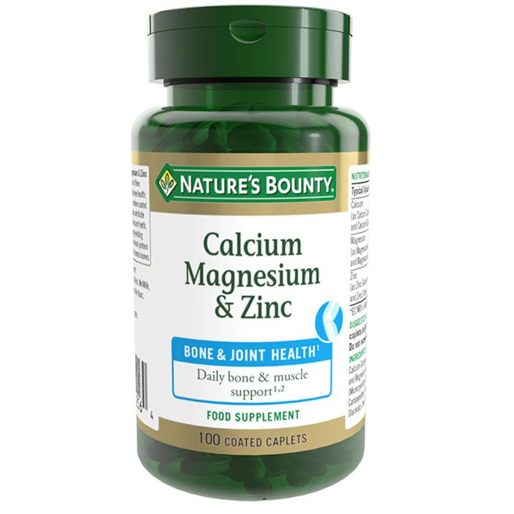 Image of Natures Bounty Calcium Magnesium and Zinc - Pack of 100